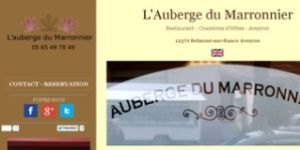 Site internet Auberge du Marronnier